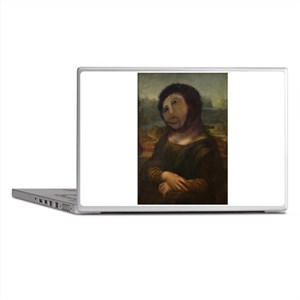 restored Mona Lisa Laptop Skins