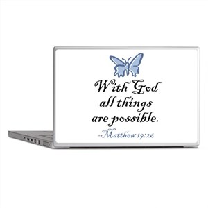 Matthew 19:26 Laptop Skins