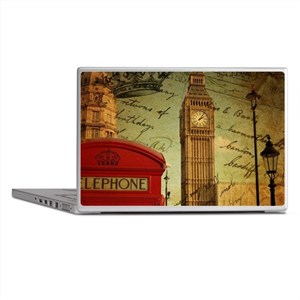 vintage London UK fashion Laptop Skins