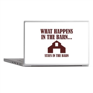 What Happens In The Barn Laptop Skins
