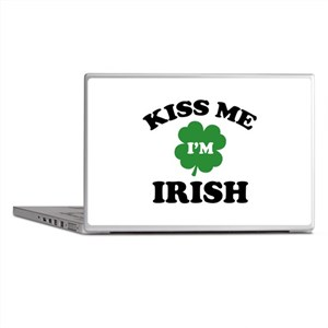 Kiss Me I'm Irish Laptop Skins