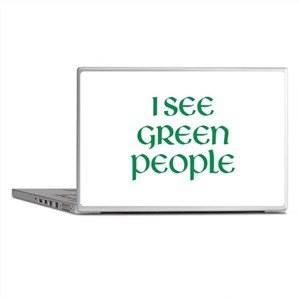 I See Green People Laptop Skins