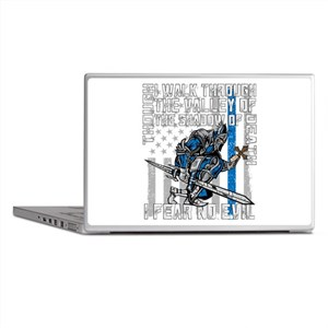 I Fear No Evil Police Crusader Laptop Skins