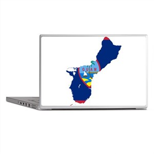 Guam Flag and Map Laptop Skins