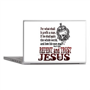 Repent and Trust Jesus Laptop Skins