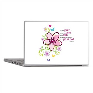 For it is by Grace you have been Saved Laptop Skin