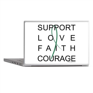 Support Block Text Laptop Skins