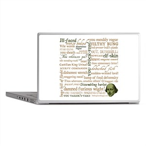 Shakespeare Insults Laptop Skins