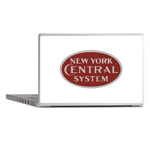 New York Central Railroad Logo-maroon Laptop Skins