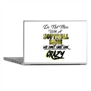 don't mess with a softball mom Laptop Skins