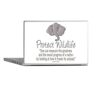 Protect Elephants Laptop Skins