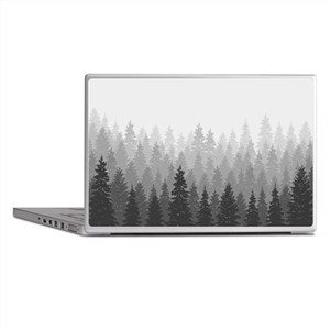 Gray Forest Laptop Skins