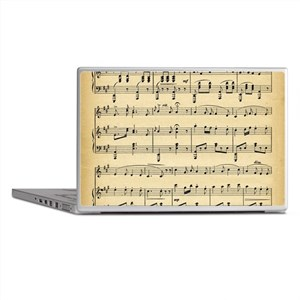 sheet music Laptop Skins