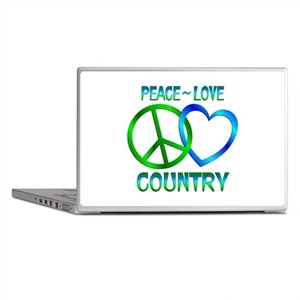 Peace Love Country Laptop Skins