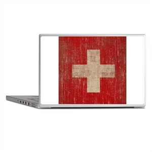 Vintage Switzerland Flag Laptop Skins