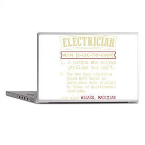 Electrician Funny Dictionary Term Laptop Skins