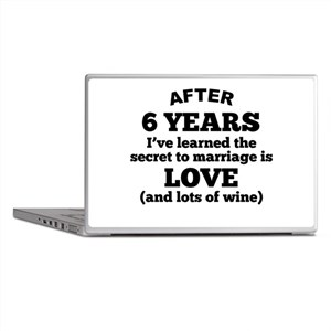 6 Years Of Love And Wine Laptop Skins
