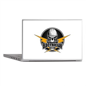 Union Electrician Skull Laptop Skins