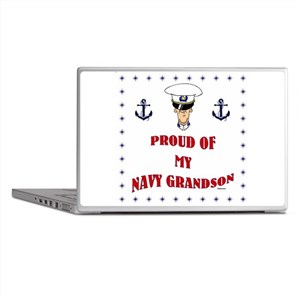 Proud Of My Navy Grandson Laptop Skins