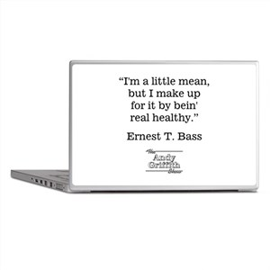 ERNEST T. BASS QUOTE Laptop Skins