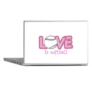 Love is Softball : Pink Laptop Skins