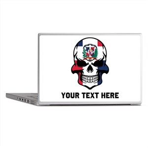 Dominican Flag Skull (Custom) Laptop Skins