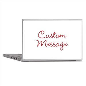 Simple Large Custom Script Message Laptop Skins