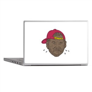 African-American Rapper Crying Drawing Laptop Skin