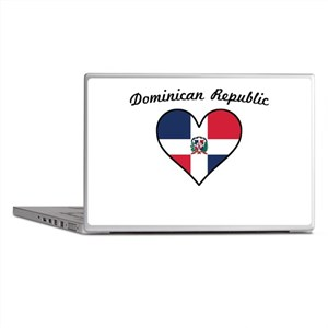 Dominican Republic Flag Heart Laptop Skins