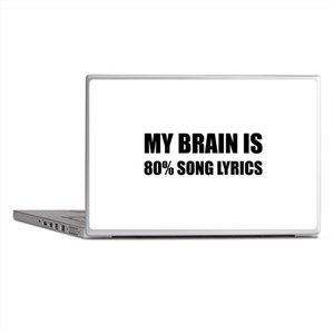 Brain Song Lyrics Laptop Skins