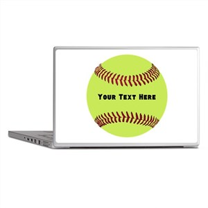 Customize Softball Name Laptop Skins