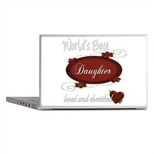 Cherished Daughter Laptop Skins