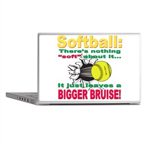 Girls Softball Laptop Skins