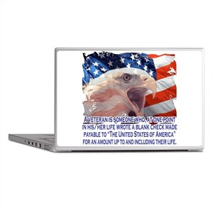 Veteran Blank Check Laptop Skins