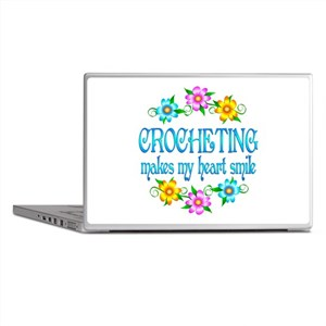 Crocheting Smiles Laptop Skins