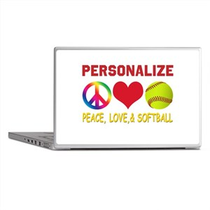 Personalize Girls Softball Laptop Skins