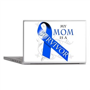 My Mom is a Survivor (blue) Laptop Skins
