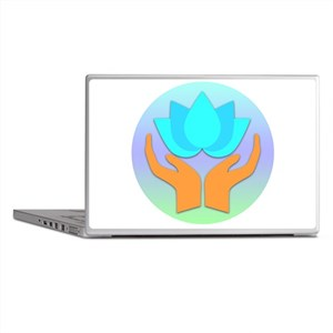 Lotus Flower - Healing Hands Laptop Skins