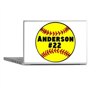 Personalized Softball Laptop Skins