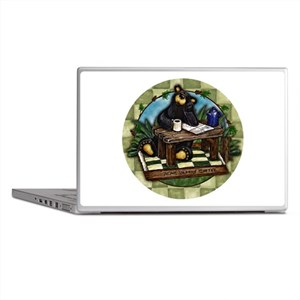 Coffee Drinking Bear Laptop Skins