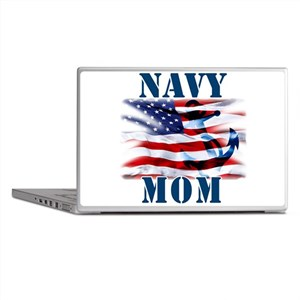 Navy Mom Laptop Skins