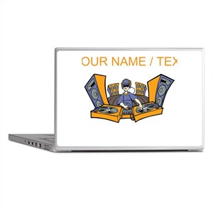 Custom Cartoon DJ Booth Laptop Skins