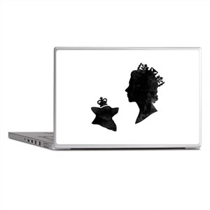 Queen and Corgi - Laptop Skin