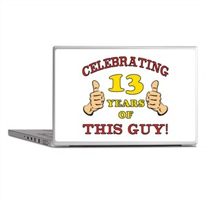 Funny 13th Birthday For Boys Laptop Skins