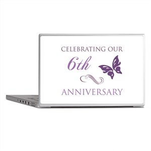 6th Wedding Aniversary (Butterfly) Laptop Skins