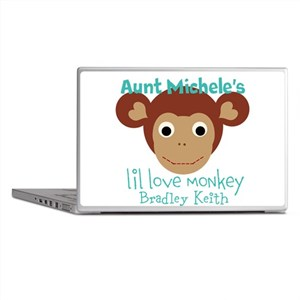 Personalize Love monkey Laptop Skins