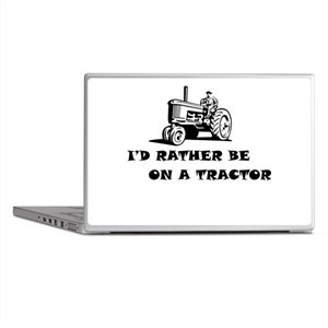 Id rather be on a tractor Laptop Skins