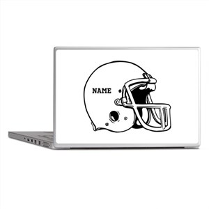 Customize a Football Helmet Laptop Skins