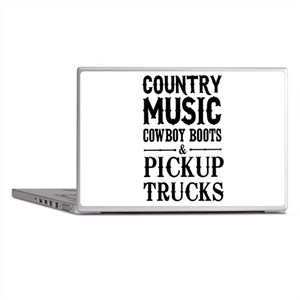 Country Music, Cowboy Boots & Pickup Trucks Laptop