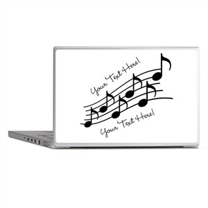 Music Notes PERSONALIZED Laptop Skins
